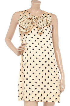 SONIA BY SONIA RYKIEL Polka-dot cotton and silk-blend dress