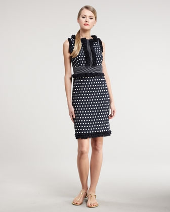 Tory Burch Evelyn Polka-Dot Dress