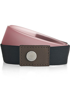 Marni  Skinny silicone and leather belt