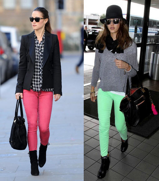 Candy Color Jeans Jessica Alba Spring 2012