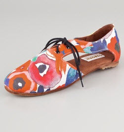 Floral Oxford Spring 2012 - Osborn Floral Lace Up Flats