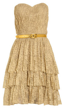 Robert Rodriguez Belted Tier Dress