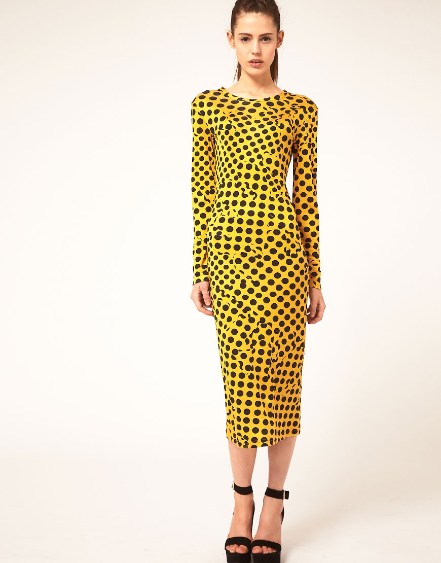 Danielle Scutt Dress In Polka Dot Print