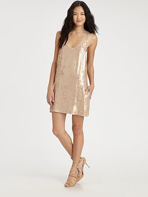 Elizabeth & James Sequin Singlet Dress