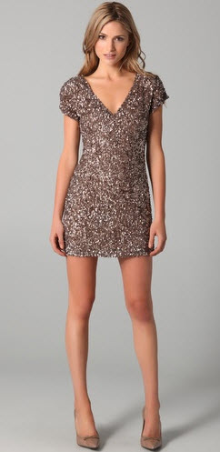 Parker Cluster Beaded V Neck Dress