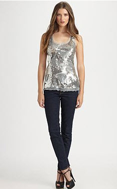 Royal Underground Sequin Tank Top