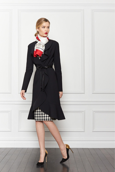 Carolina Hererra Pre-Fall 2013 Checkers - via Fashion Hippo
