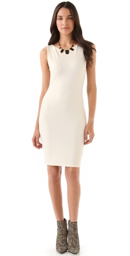 alice + olivia Gina Sleeveless Fitted Dress